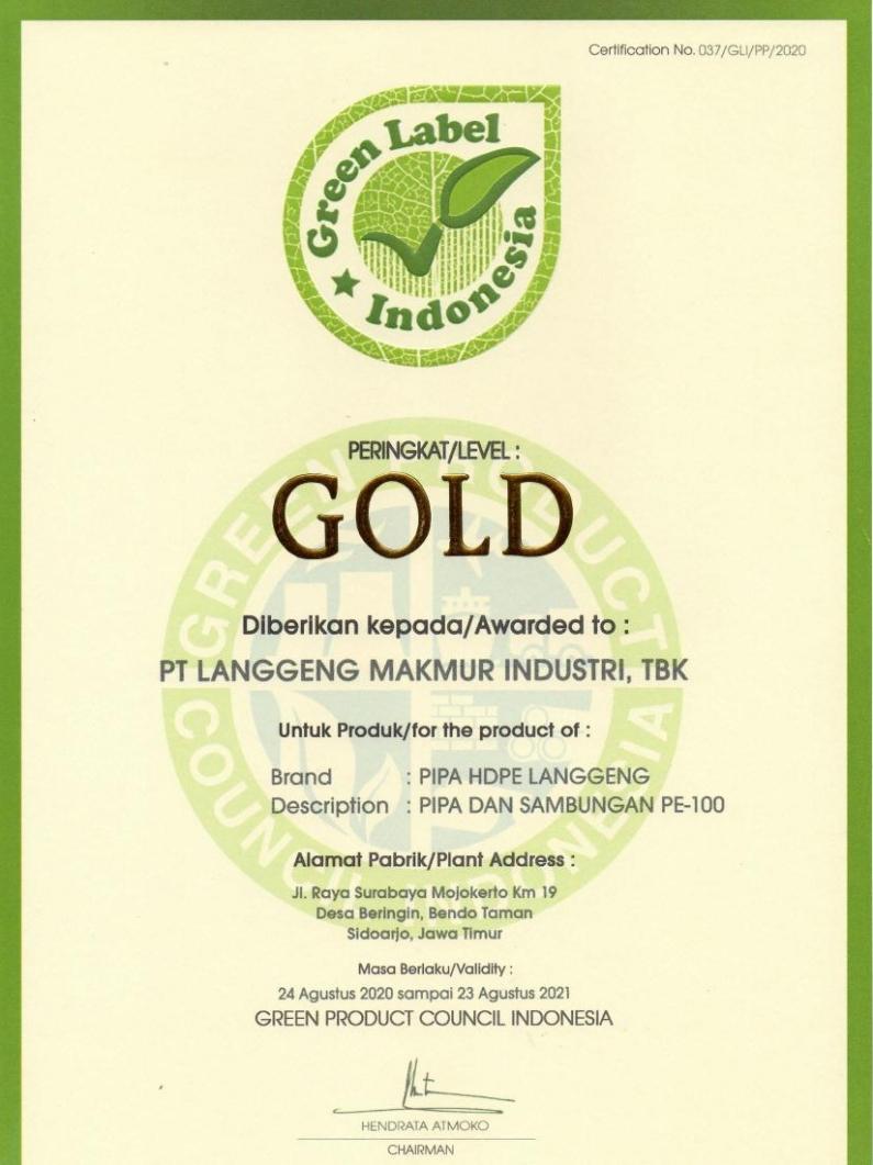 Green Label Pipa SNI